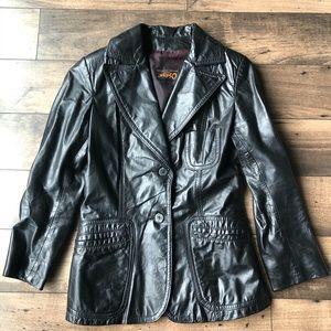 Vintage Canadian Made Leather Jacket